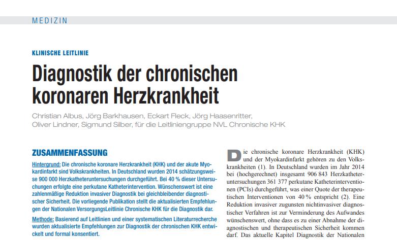 Veröffentlichung im Deutschen Ärzteblatt