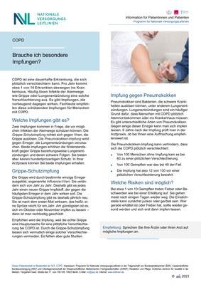 COPD - Impfungen