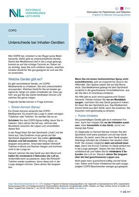 COPD - Inhalier-Geräte