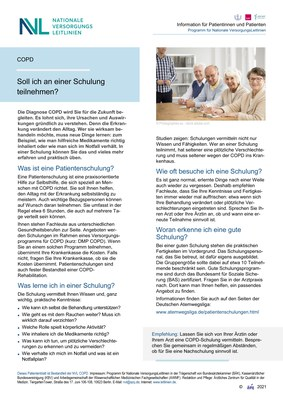 COPD - Schulung