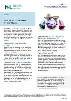 COPD - unbekanntes Inhalier-Geräte